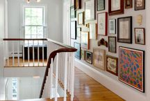 Hanging photos and art