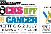 Rocks Off For Cancer Benefit Gig 2 July 2016 / Rocks Off For Cancer is an evening of live music and entertainment to be held on Saturday 2nd July, 2016 at Hamworthy Club, Magna Road, Canford Magna, Wimborne, Dorset BH21 3AP, with proceeds to Wessex Cancer Trust. Online tickets: Ticket Hotline: 01202 881559 | www.brassmonkeys.biz/rofc2016