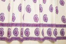 Paisley Curtains / Paisley curtains - Designer Fabric Shower Curtain
