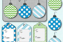 Xmas Cards, Tags & Labels  {free digital printables}