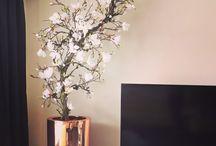 Magnoliabomen... / Deze zijde bomen worden door onze stylisten op maat gemaakt in desgewenst kleuren maat!