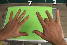 Mãos.
