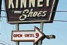 Old store and restaurant signs