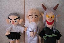 ボランティア 人形劇 かなで / ボランティア 人形劇 かなで 大分市 かなでの人形は、もったいないの人形です。古い着物、古い洋服、のこり毛糸から生まれます。