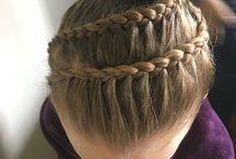 Gymnastics hair / Hair styles for comp