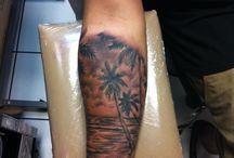calf beach tattoo ideas
