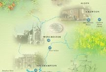 Jane Austen / Jane Austen died in Winchester and is buried in Winchester Cathedral. She wrote many of her books in the surrounding Hampshire countryside. Explore Hampshire and the life of Jane Austen