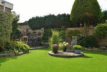 Emerald landscape grass