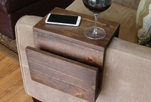 Couch wood armrest