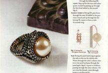 koralikowe pierścionki