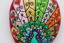 ideas para pintar piedras
