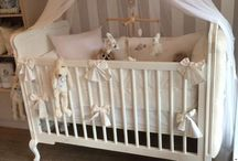 Linen - The Grand / We are busy launching a new linen range! Here is a sneak peek of our Brand new cot bumper that goes all around your cot.