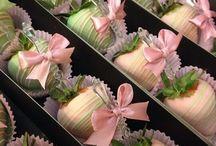 CHOC STRAWBERRY DECORATING / Pretty Chocolate Strawberries