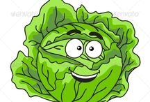 Verduras, Frutas, Cereales y Hortalizas Divertidas