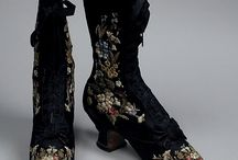 Victorian shoes and clothes