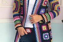 casaco de la  de crochê