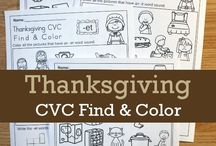 Thanksgiving Activities for Kids / Thanksgiving ideas for math and literacy for kids in Preschool, Pre-K, Kindergarten and Grade 1.