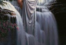 Mermaid :: Coventina / Coventina: Romano-British goddess of wells and springs