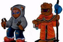 Baba Bhalu Characters Artwork / Various characters from Adventures of Baba Bhalu