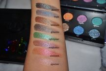 Urban Decay Swatches on olive,mid, tan skin