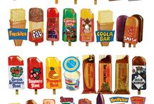 Retro sweets and ice lolly