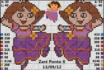 Cross Stitch Dora the Explorer / Dora / by Velle Mere Lyons