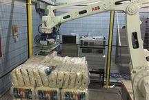 Pirinç Bakliyat Torbası Paletleme Robotu