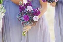 Wedding by colour - purples, drama & viola, drama
