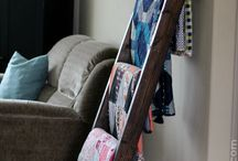 Ladder and Quilt rack ideas
