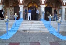 Στολισμός βάπτισης θέμα πρίγκιπας / Ο στολισμός βάπτισης στην εκκλησία με θέμα τον πρίγκιπα με ορτανσία και γυψόφυλλο.