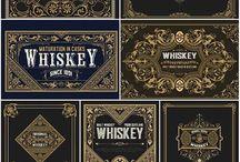 Gold Wine Label Design