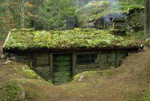domky v lese