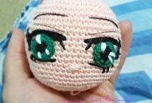 Crochet Dolls eyes/hair/noses