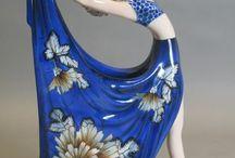 Porceleinen vrouwenfiguren schaubachkunst Wallendorf / Porceleinen vrouwenfiguren