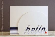 Cardzzz...Hello / by Cat o phile