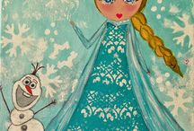 Rosa e Turchese dolls / Little paintings with my lovingmixed media princesses of fairy tales