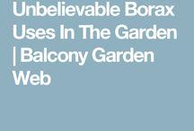 Garden use borax