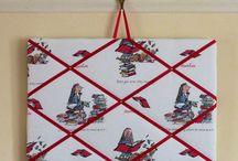 Fabric memo board, fabric notice board / Office organiser, notice board, new home gifts, bedroom organiser, kitchen organiser, mum organiser