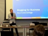 Blogging for Business seminar at Bournville College / Blogging for Business training courses provided by Opace