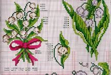 cross stitch lily of the valley(konwalia)