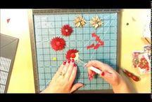 Punch board flowers