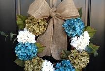 wreaths/door hangers / by Roseann Cole