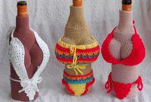 Crochet on bottles