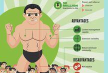 WordPress Infographics / Infographics related to WordPress