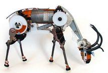 Recycled electronics art