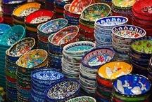 handpainted tiles + ceramics / by aimee * artsyville