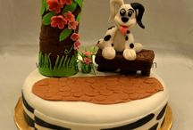 Fondant Cakes / Fondant cakes done by beginners at 32 Degree Studio