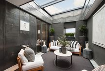 Project: Private Property, Cadogan Place / This eloquent penthouse suite is situated amongst the white stucco Georgian houses of Knightsbridge, London. Surrounded by streams of private gardens, lavish restaurants and shops, the location couldn't be more suitable for such a luxurious building design. Read more about this case-study @ http://www.glazingvision.co.uk/case-studies/bespoke-sliding-rooflight-installed-in-knightsbridge/