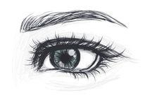 Gerçekçi göz çizimleri