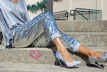 Sequin Joggers / Get Your Shine On With Alex Malay Sequin Joggers